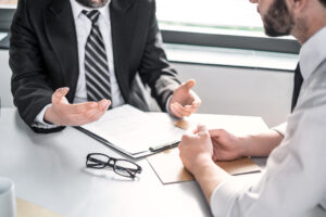 Business people negotiating a contract - dasg